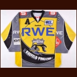 2009-10 Allan Rourke Krefeld Penguins Game Worn Jersey