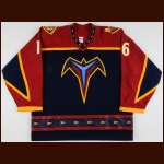2003-04 Jeff Cowan Atlanta Thrashers Pre-Season Game Worn Jersey