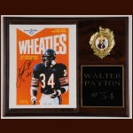 Walter Payton Autographed Wheaties Display – Deceased - Walter Payton, Inc. Notarized COA