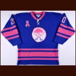 2011-12 Don Luce Buffalo Sabres Alumni Worn Jersey - Breast Cancer – Team Letter