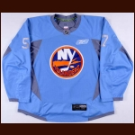 2010-11 Blake Comeau New York Islanders Practice Worn Jersey – Team Letter