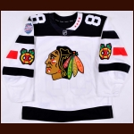 2015-16 Patrick Kane Chicago Blackhawks Stadium Series Game Worn Jersey - Hart Trophy - Art Ross Trophy - Ted Lindsay Award - 1st Team NHL All Star - Photo Match - Team Letter