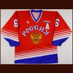 1998-99 Sergei Tertyshny Russian National Team Game Worn Jersey