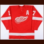 1987-88 Gerard Gallant Detroit Red Wings Game Worn Jersey