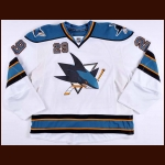 2009-10 Ryan Clowe San Jose Sharks Game Worn Jersey