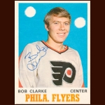 1970-71 Topps Bobby Clarke Philadelphia Flyers Autographed Card – Rookie