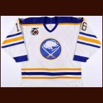1991-92 Pat Lafontaine Buffalo Sabres Game Worn Jersey - Photo Match