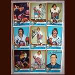 1974-75 OPC Autographed Islanders group of 9