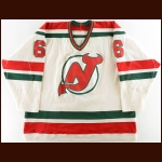 1985-86 Craig Wolanin New Jersey Devils Game Worn Jersey – Rookie