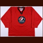 "2002 Ed Jovanovski Team Canada Olympics Training Camp Worn Jersey - ""Respect"""