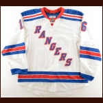 2015-16 Derick Brassard New York Rangers Game Worn Jersey – Photo Match – Team Letter