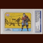 Bobby Rosseau 1968 Topps - Montreal Canadiens - Autographed - PSA/DNA
