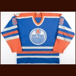 "1982-83 Glen Anderson Edmonton Oilers Stanley Cup Final Game Worn Jersey – ""Universiade 83"" - 48-Goal & 104-Point Season - Photo Match"