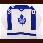 1972-73 Ron Low Toronto Maple Leafs Game Worn Jersey – Rookie