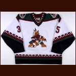 1997-98 Nikolai Khabibulin Phoenix Coyotes Game Worn Jersey - Photo Match – Team Letter
