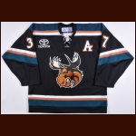 2006-07 Lee Goren Manitoba Moose Game Worn Jersey – Alternate – Team Letter