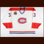 1991-92 Patrick Roy Montreal Canadiens Game Worn Jersey - 1st Team NHL All Star - Vezina Trophy - Jennings Trophy - All Star Season - The Chris Chelios Collection – Chris Chelios Letter