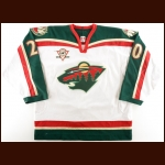 "2005-06 Andrei Zyuzin Minnesota Wild Game Worn Jersey – ""5-Year Anniversary"" - Photo Match – Team Letter"