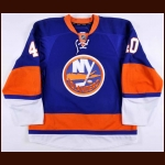 2010-11 Michael Grabner New York Islanders Game Worn Jersey - Photo Match – Team Letter