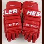 Kris Draper Detroit Red Wings Red Hespeler Game Worn Gloves – Team Letter