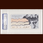 The S Line Autographed Card - Babe Seibert, Nels Steward, Hooley Smith - The Broderick Collection - Deceased