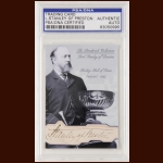 Lord Stanley Autographed Card - The Broderick Collection - Deceased