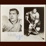 Bill Speer Pittsburgh Penguins 8x10 B&W Autographed Photo – Deceased