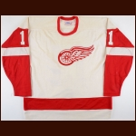 1979-80 Pete Mahovlich Detroit Red Wings Game Worn Jersey - Photo Match