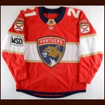 "2017-18 Vincent Trocheck Florida Panthers Game Worn Jersey – ""MSD – Parkland"" - Career Best 31-Goal & 75-Point Season - Photo Match – Team Letter"