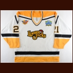 "1994-95 Domenic Pittis Cleveland Lumberjacks Game Worn Jersey – ""IHL 50-year Anniversary"" – Rookie"