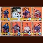 1972-73 Autographed New York Rangers Card Group of 8
