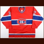 1986-87 Claude Lemieux Montreal Canadiens Game Worn Jersey