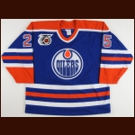 1991-92 Geoff Smith Edmonton Oilers Game Worn Jersey – Team Letter