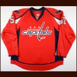 2009-10 Mike Green Washington Capitals Game Worn Jersey - 1st Team NHL All Star - Career Best 76-Point Season - Photo Matched – Team Letter