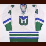 1980-81 Fred Arthur Hartford Whalers Game Worn Jersey – Rookie - Photo Match - The New England Collection
