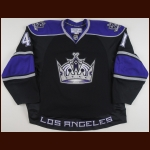 2008-09 Raitis Ivanans Los Angeles Kings Game Worn Jersey - Photo Match