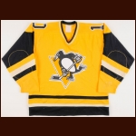1982-84 Peter Lee/Marty McSorley/Bob Errey Pittsburgh Penguins Game Worn Jersey – Errey Rookie - Photo Match