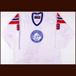Mid 2000's Norwegian National Team Game Worn Jersey – Player #9