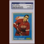 Pete Geogan 1959 Topps – Detroit Red Wings – Autographed – Deceased – PSA/DNA