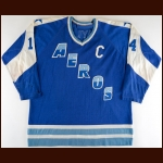 1972-73 Ted Taylor WHA Houston Aeros Game Worn Jersey - Inaugural Season - The Twin Cities WHA Find