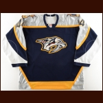 2003-04 Kimmo Timonen Nashville Predators All Star Skills Competition Worn Jersey - NHL All Star – NHL Letter
