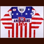 "2010-11 Brady Calla Rochester Americans Game Worn Jersey – ""75-year AHL Anniversary"""