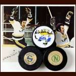 Minnesota Pucks and Postcards Lot - 3 Hockey Pucks and 2 Postcards