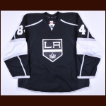 2014-15 Derek Forbort Los Angeles Kings Game Issued Jersey – Team Letter