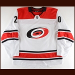 2018-19 Sebastian Aho Carolina Hurricanes Game Worn Jersey - All Star Season - Photo Match – Team Letter
