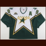 "2006-07 Mike Modano Dallas Stars Game Worn Jersey – ""2007 NHL All Star"" - Photo Match"