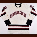 Late 1960's Northeastern University Game Worn Jersey - Player #20