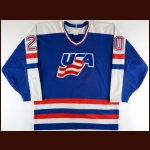 1987 Gary Suter Team USA Canada Cup Game Worn Jersey