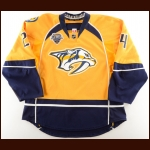 "2015-16 Eric Nystrom Nashville Predators Game Worn Jersey – ""2016 All Star"" – Photo Match – Team Letter"