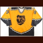 1995-96 Jon Rohloff Boston Bruins Game Worn Jersey - Photo Match